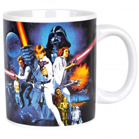 Les nostalgiques de la première heure vont succomber au charme intemporel de ce mug Star Wars spécial 1ère trilogie