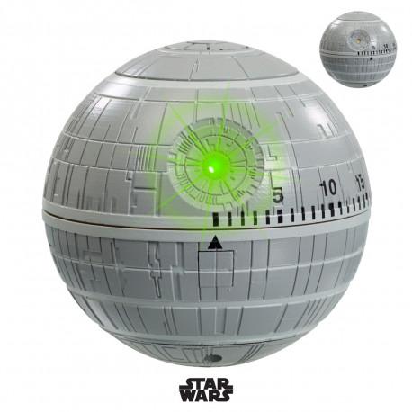 Minuteur Star Wars représentant l'étoile de la mort, avec effet sonores et lumineux