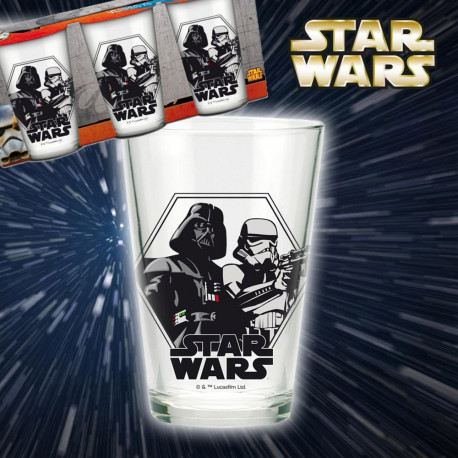 Assumez votre côté geek addict avec ces trois verres Star Wars ! Dark Vador et Stormtrooper sont mis en avant