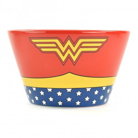 ce magnifique bol costume Wonder Woman en céramique : vous serez ainsi d'attaque dès le petit déjeuner