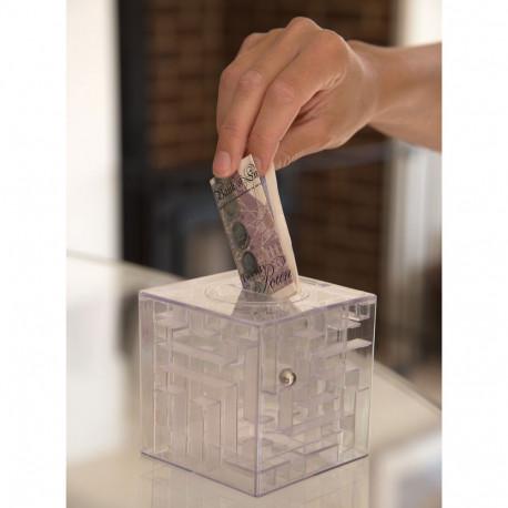 Venez à bout du labyrinthe pour récupérer votre monnaie dans cette tirelire casse-tête en trois dimensions