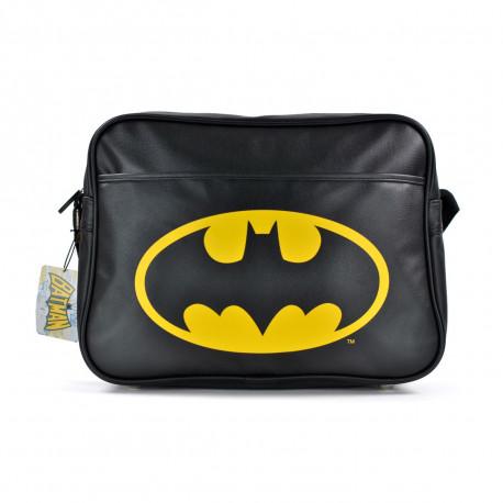 sacoche à bandoulière Batman qui met en avant son emblématique logo chauve-souris