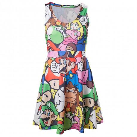 Affichez votre penchant geek et girly avec cette robe Nintendo à l'imprimé ultra original