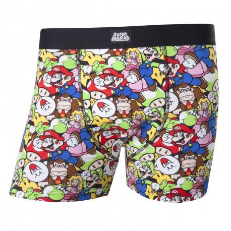 Un boxer Nintendo avec tous les personnages Super Mario Bros