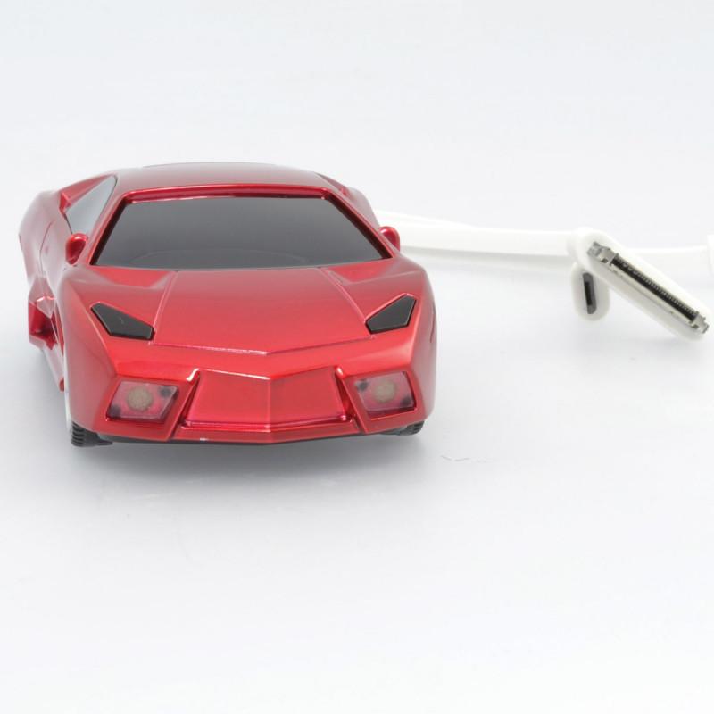 batterie de secours usb en forme de voiture de course sur logeekdesign. Black Bedroom Furniture Sets. Home Design Ideas