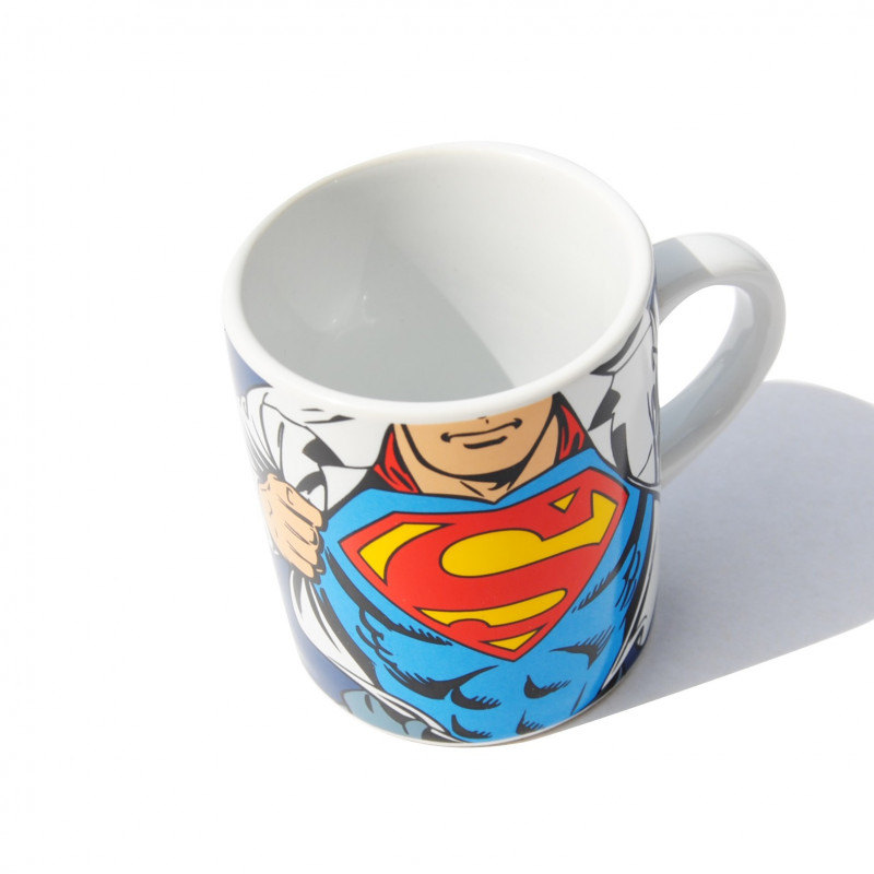tasse originale expresso dc comics l 39 effigie de superman sur logeekdesign. Black Bedroom Furniture Sets. Home Design Ideas