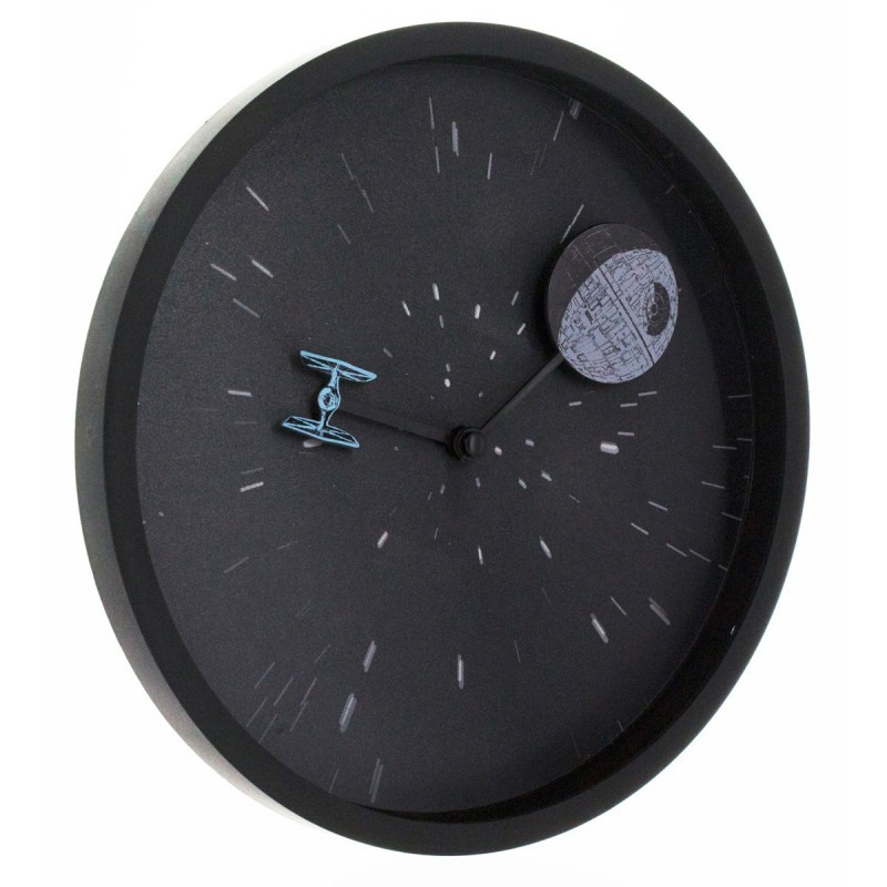 horloge star wars pendule murale design avec etoile de la mort sur logeekdesign. Black Bedroom Furniture Sets. Home Design Ideas
