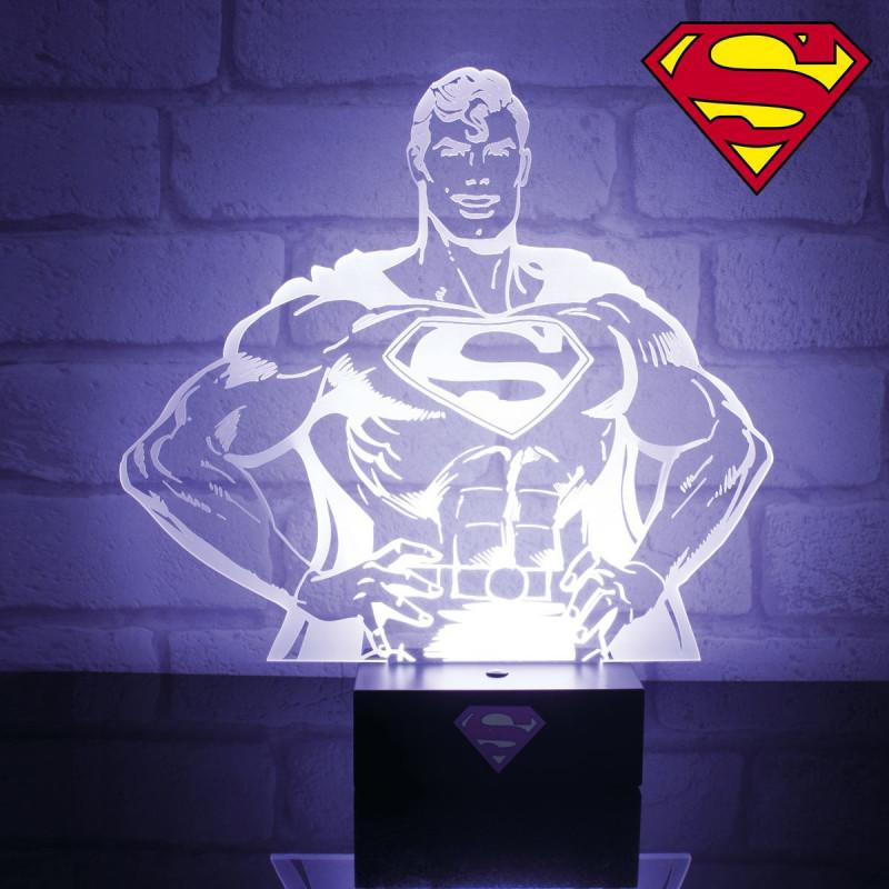 Lampe Superman Lampe Geek En Forme De Buste De Superman Sur