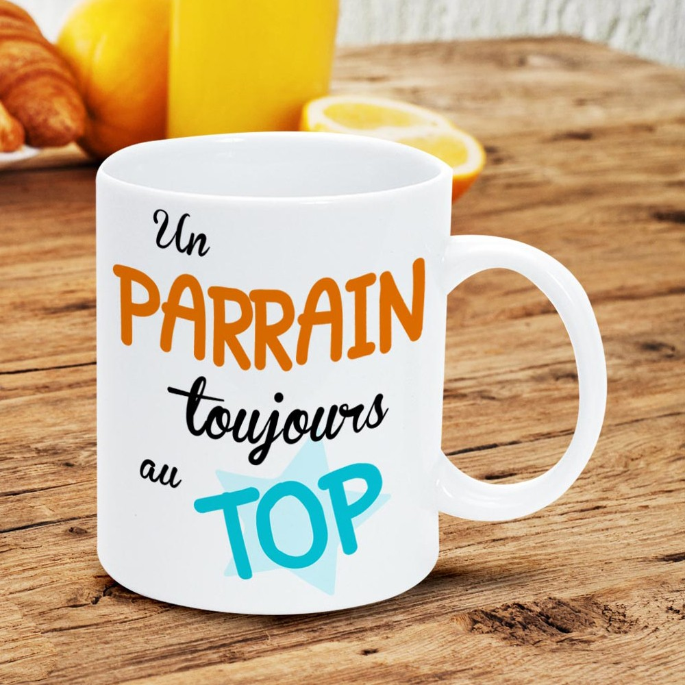 mug parrain avec inscription un parrain toujours au top sur logeekdesign. Black Bedroom Furniture Sets. Home Design Ideas