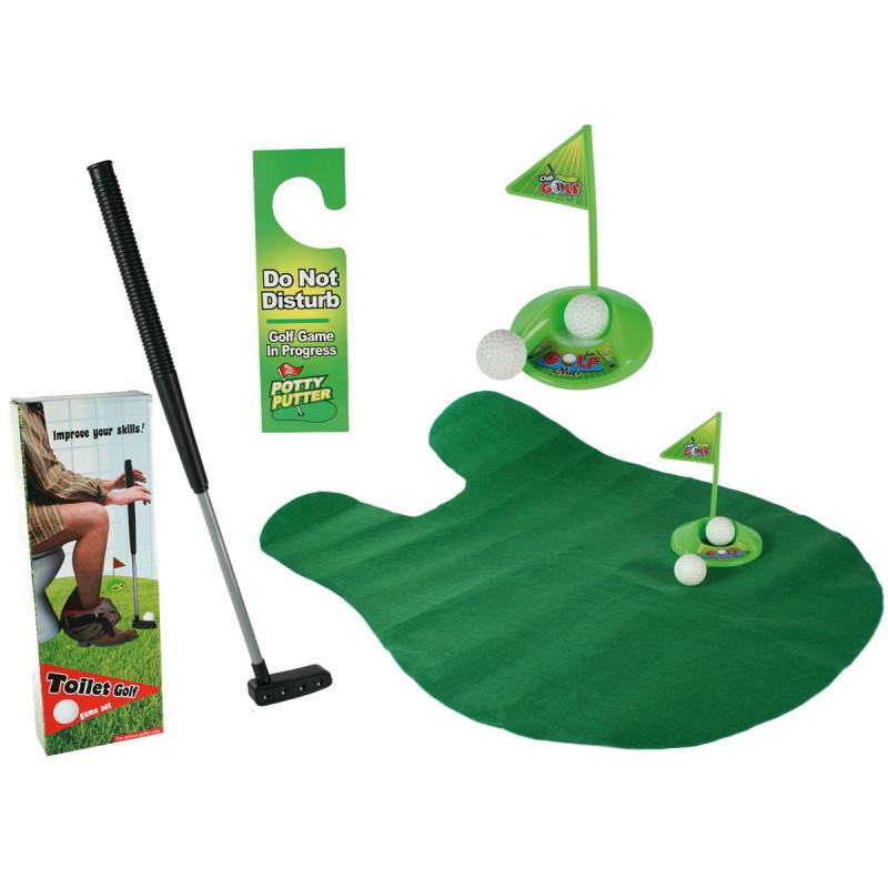 mini golf pour toilettes jeu original sur logeekdesign. Black Bedroom Furniture Sets. Home Design Ideas
