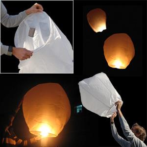 Lanterne japonaise volante