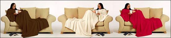 Couverture Cosy, le snug rug cosy est une couverture avec des manches intégrées douce et chaleureuse.
