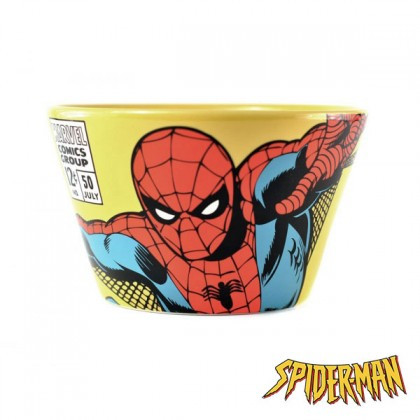 Zoom sur le bol Spiderman Marvel comics